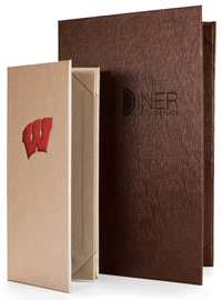 Bistro menu covers offer freedom of choice. Tons of great finishes.