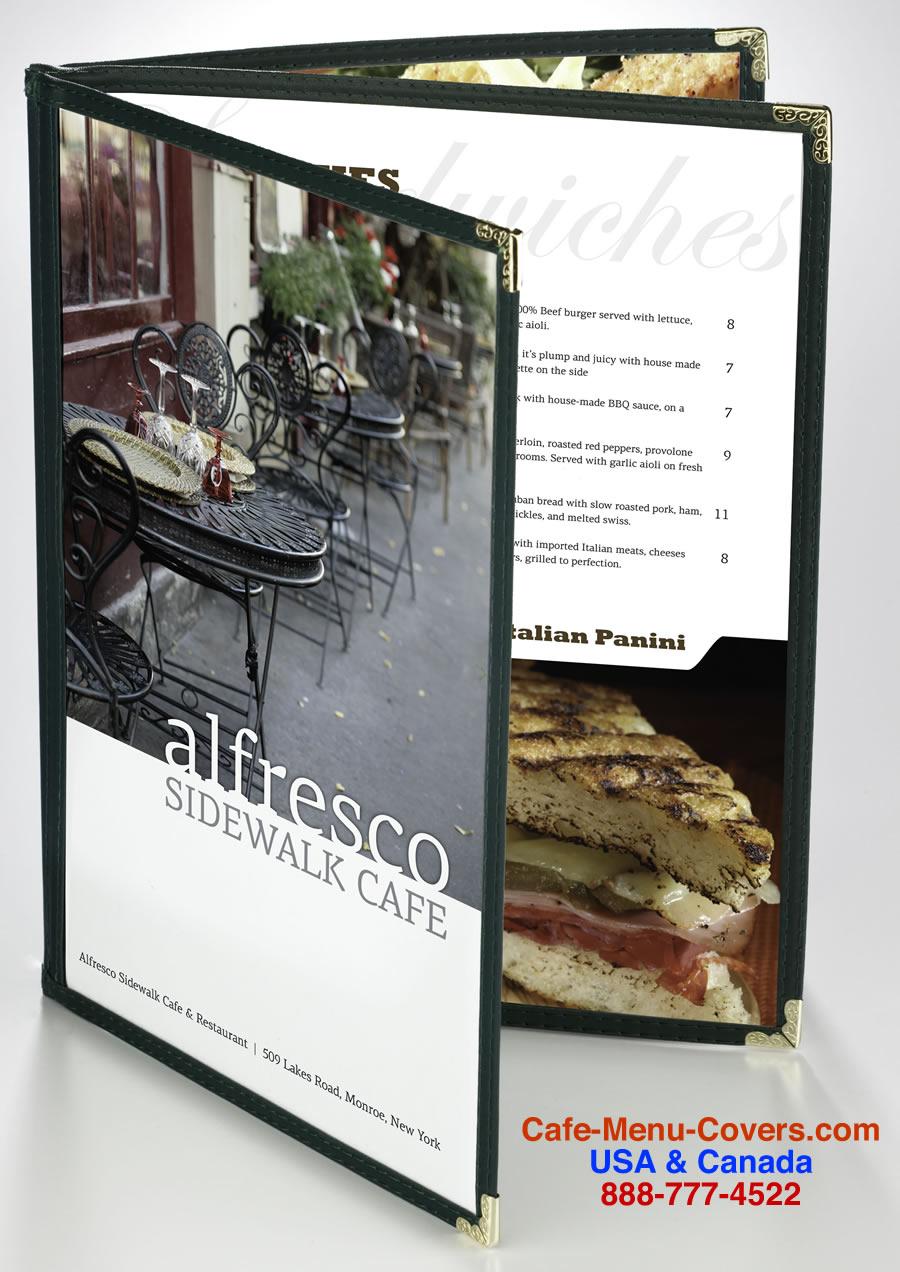 cafe menu covers sewn menu covers clear menu covers cafe menu