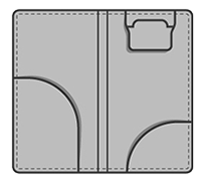 Guest check holder interior layout.