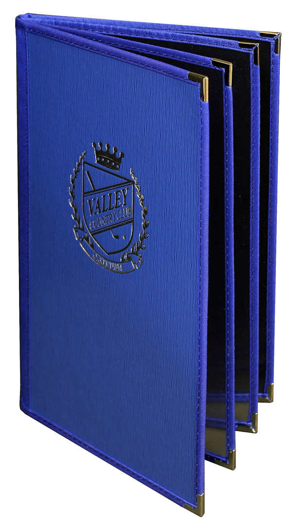 Delight hardback menu covers do more but cost less.