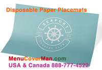 Imprinted Paper Placemat - One-Sided or Two-Sided