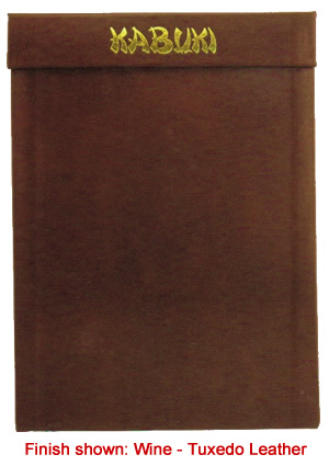 Magnetic menu board can be ordered in genuine leather.