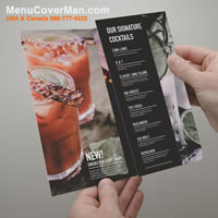 Magic brand tear-proof  and water-proof restaurant menus.