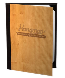 Authentic Wood Menu Covers