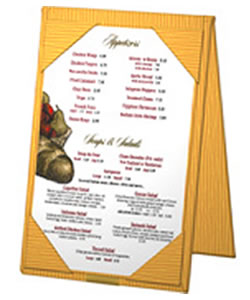 Bistro Table Tents for Restaurants.