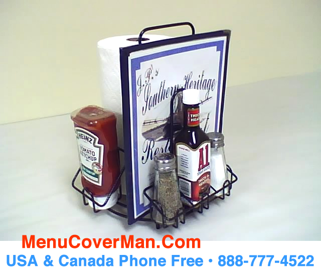 MACH Condiments Holder Menu Holder AllInOne Menucovermancom - Condiment holder for table