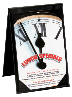 Elegance Table Tents for Restaurants.
