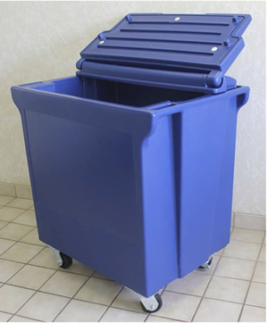 Roll perishable food, or beverages that you wish to be very cold, with this fantastic commercial ice and beverage bin.