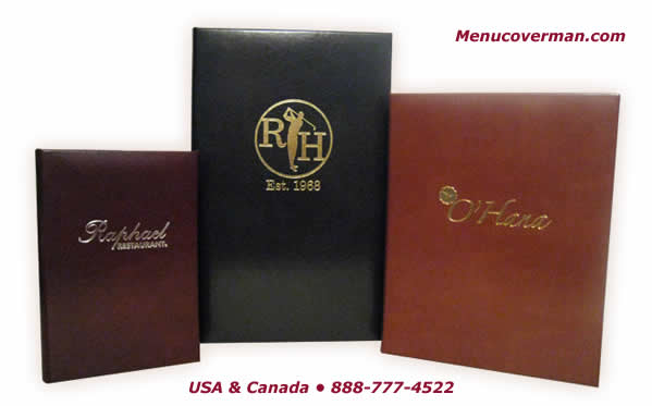 True authentic leather highest quality menu covers from Menucoverman.com