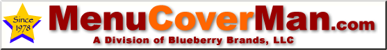 menucoverman.com logo bar, pretty in deep red and orange.