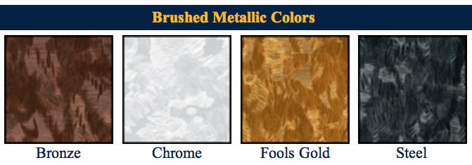 Metallics menu covers color bar.