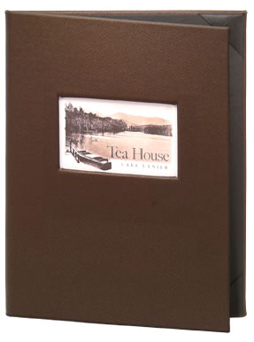 Monticello die cut menu covers.