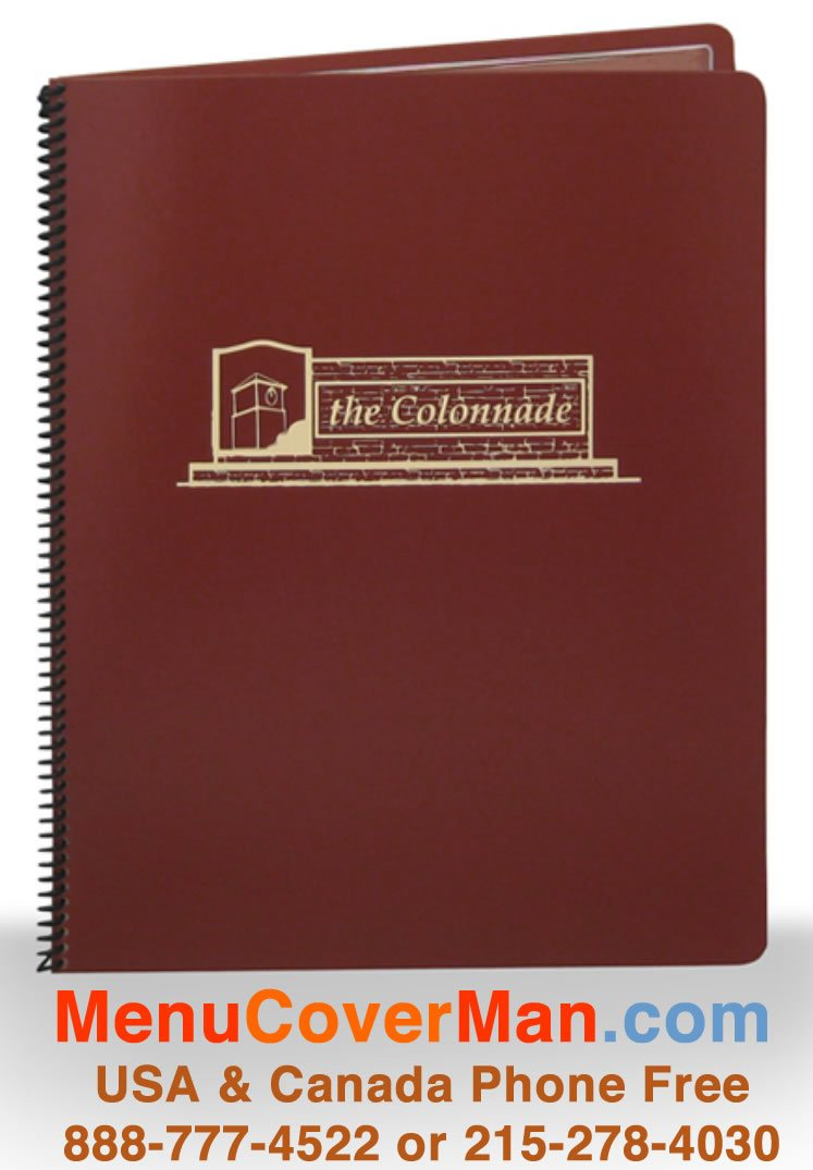 Chesterfield Country Club Menu Covers