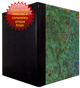 Patina Copper Menu Covers