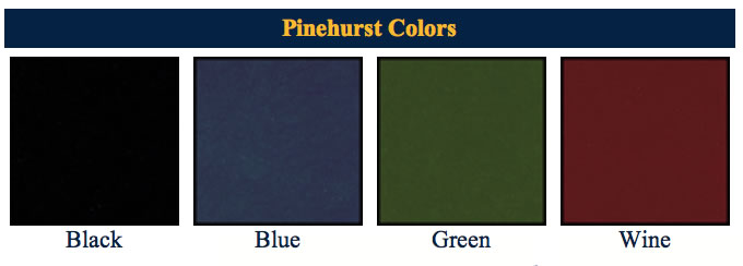 Pinehurst menu cover colors.