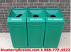 Recycle bins for commercial kitchens.
