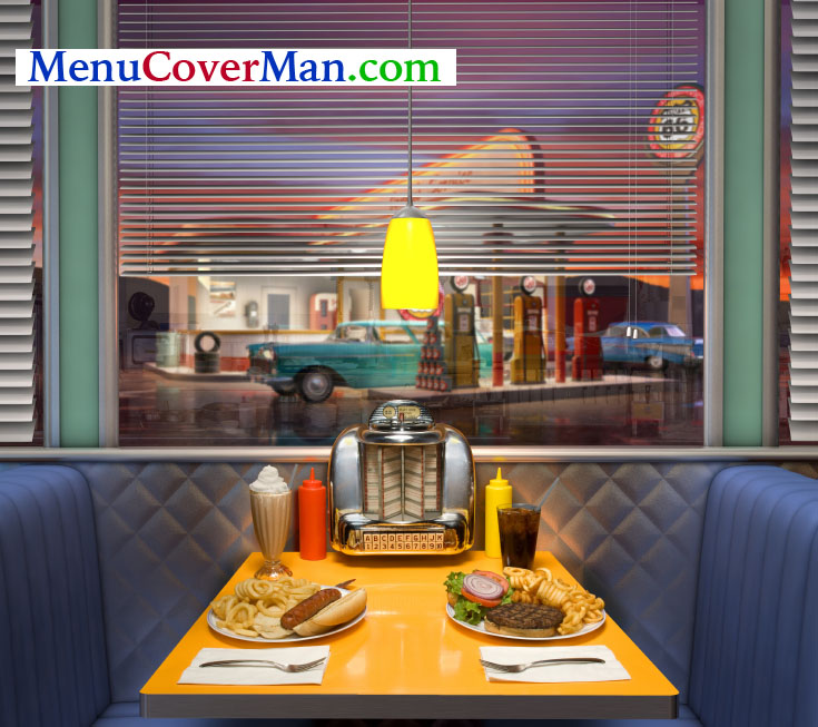 Retro menu covers.. only at menucoverman.com