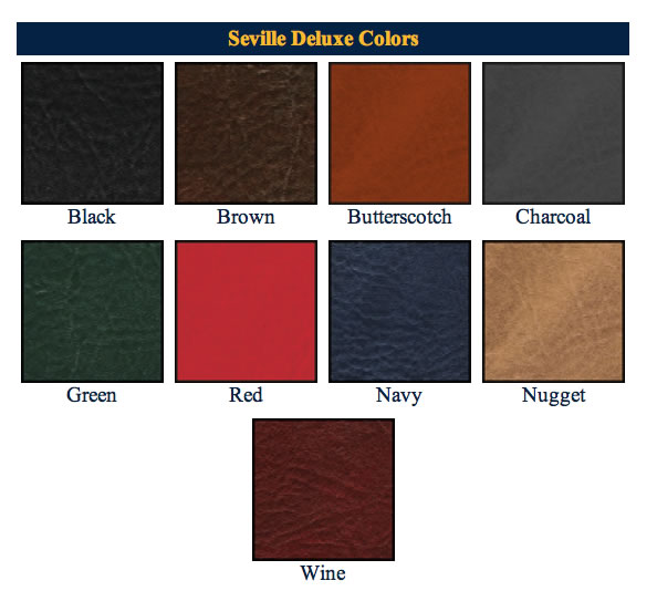 Seville Deluxe Menu Covers Swatches