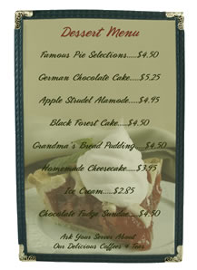Single pocket cafe menu covers from $1.19.