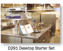 Tarifold D291 allows recipe access at the point of kitchen production.
