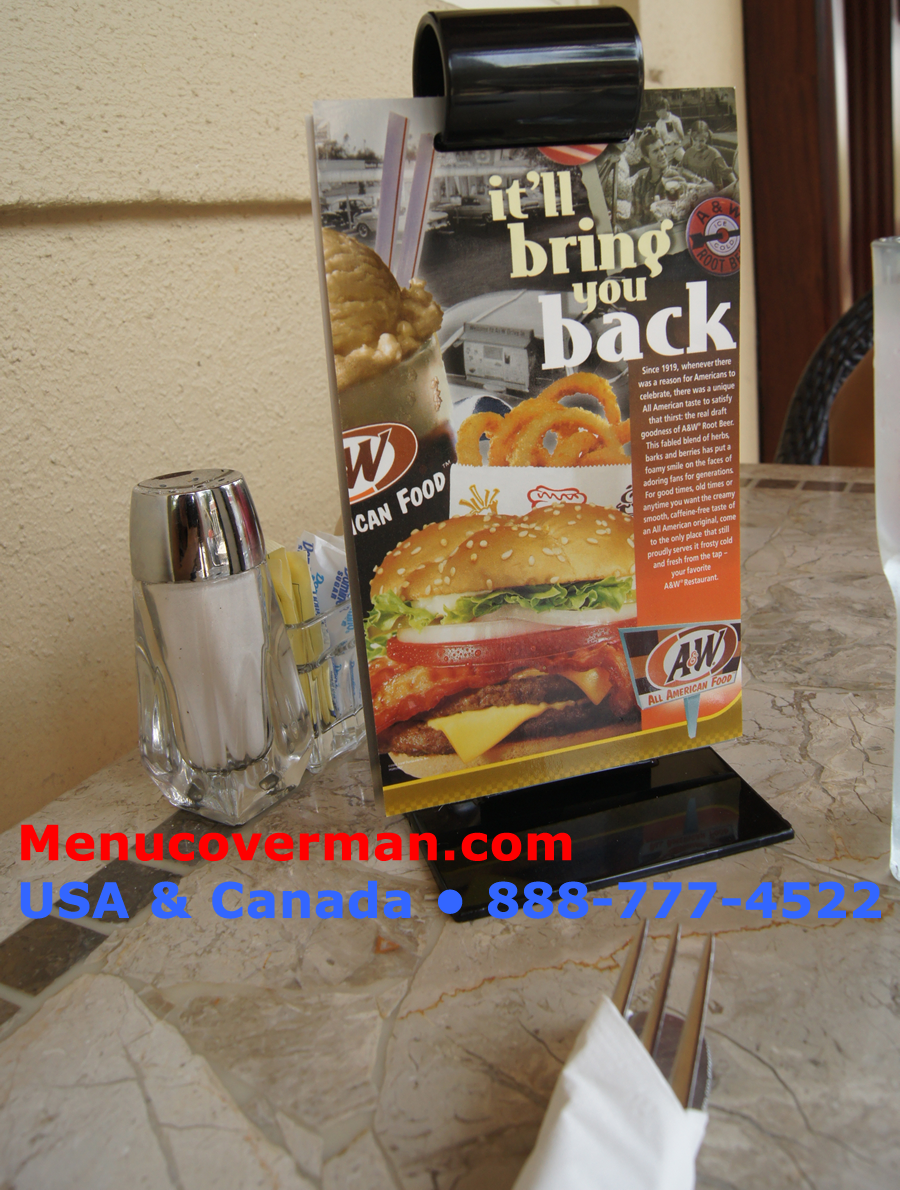 The menu roll from Menucoverman.com 888-777-4522 is for restaurants everywhere. Once you put out the menu-roll, you'll never take them off your tables again.