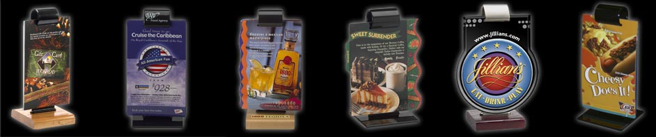 The Menu Roll Stand from Menucoverman.com
