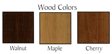 Wood binder color bar.